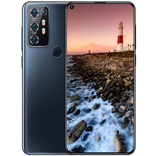 ZXYSR Note 30U PRO Smartphone Economici, 6 GB + 64 GB Batteria da 5000 mAh 18MP + 48MP Pixel Telefonino Sblocco con Impronta Digitale Posteriore Doppia SIM, Cellulari Economici,Nero