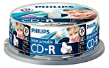 Philips CD-R CR7D5JB25/00 - CD-RW vírgenes (CD-R, 700 MB, 80 min, 52x)