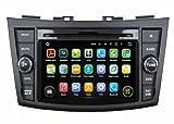 2 Din 7 pouces Android 5.1.1 Lollipop stéréo de voiture pour Suzuki Swift 2011 2012 2013 2014 2015,1024x600 écran tactile capacitif avec Quad Core Cortex A9 1.6G CPU 16G flash et 1G de RAM DDR3 GPS Navi Radio Lecteur DVD 3G/WIFI Aux Input OBD2 USB/SD DVR