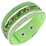 SaySure - Crystal Leather Bracelets & Bangles Buttons -