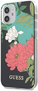 """Guess GUHCP12SIMLFL PC/TPU Flower Collection Shiny Pattern Case for Apple iPhone 12 5.4""""/Protective Case for your Mobile -..."""