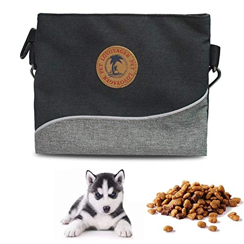 NGwenyicanI Outdoor diagonal dog food bag pet training bag portable outdoor training pet special snack bag Black