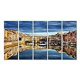 islandburner Bild Bilder auf Leinwand Ponte Vecchio Brücke