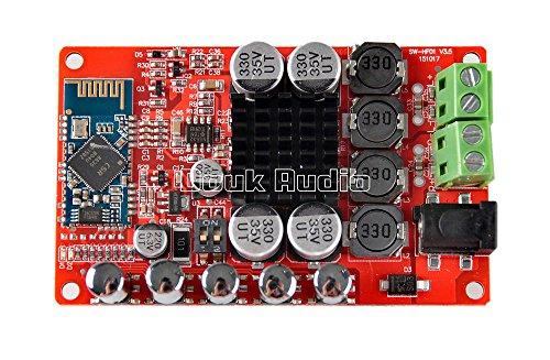 Douk Audio Upgraded 50W+50W Wireless Bluetooth 4.0 HiFi Audio Receiver Digital Amplifier Board with Protective Case and Heatsinks