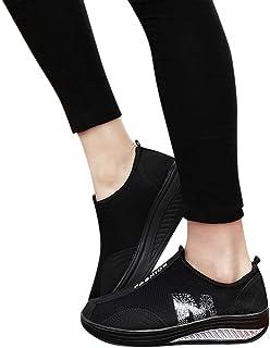 Zapatillas Deportivas MujerFannyfuny Zapatilla de Deporte Mujer Zapatos Cuña Cómodos Mocasines Plataforma Zapatillas Sneak...