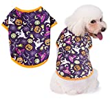 Oslueidy Disfraces de Halloween para Perros,Ropa de Calabaza para Mascotas Pijamas para Perros Ropa Perros para Cachorros Medianos Perros Pequeños Gatos Chihuahua Peluche Bomei (Sombrero mágico, L)