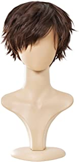 Ecvtop Wigs for Mens' Death Note Male Short Hair Wig Costume Cosplay Wigs (Light Brown)