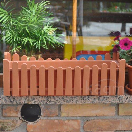 Blumenkasten Balkonkasten Pflanzkasten Landhausstil terracotta
