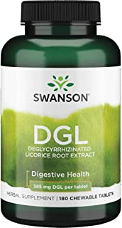 Swanson Dgl (Licorice) 385 Milligrams 180 Chwbls