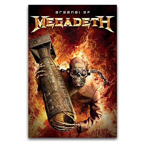 Megadeth Album copertina – Arsenal of Megadeth Poster decorativo su tela da parete per soggiorno, camera da letto, 30 x 45 cm