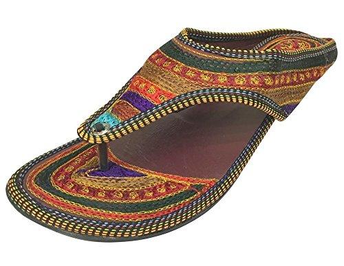 Sandalias estilo indio para mujer hechas a mano, de Step n Style, color, talla 39.5