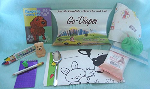 GO DIAPER Dining Deluxe Restaurant Travel Activity Kit Ages 3 up Set of Two