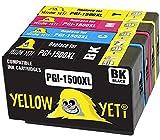 Yellow Yeti Reemplazo para Canon PGI-1500XL PGI-1500 XL Cartuchos de Tinta compatibles con Canon MAXIFY MB2050 MB2350 MB2750 MB2150 MB2155 MB2755 (1 Negro + 1 Cian + 1 Magenta + 1 Amarillo)