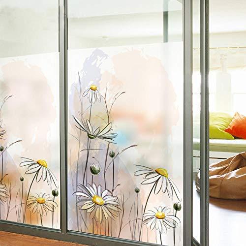KUNHAN raamsticker op maat gemaakt gekleurd glas raamfolie schuifdeur badkamer pijp statische lijm huisdecoratie kleine madeliefje