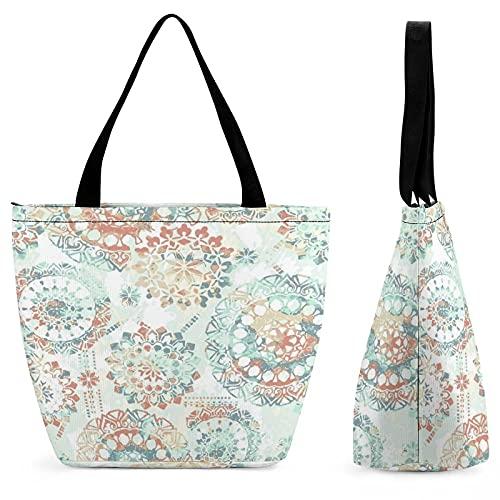Azul naranja Medallion bolsa de compras para las señoras Bolsos para las mujeres grandes Bolsos de cuero Bolsos de hombro mujeres sintético Crossbody Bolsas