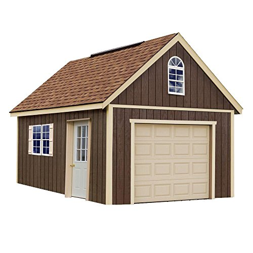 Glenwood 12 ft. x 16 ft. Wood Garage Kit without Floor