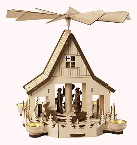 Saico Forest Cottage Pyramid 4lumini, Legno, Marrone, 36x 30x 32cm
