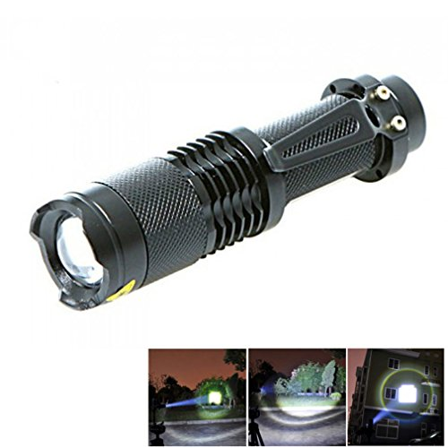 Starall 1500 lumens Zoomable LED Lampe torche 5 modes d'éclairage lampe torche tactique lampe torche Penlight Nuit Campin lumière
