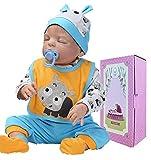Realistic Sleeping Baby Boy Dolls Silicone Full Body 22 inch Lifelike Reborn Dolls Newborn Baby Anatomically Correct Washable Toy Doll