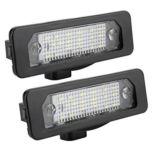 Luz de matrícula, 2 piezas de luz LED para matrícula de coche para Mustang Fusion Flex Taurus