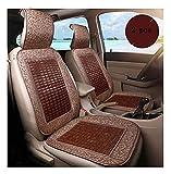 Almohadilla fresca de verano, almohadilla de enfriamiento del asiento de automóvil, bambú fresco transpirable fácil de limpiar fáciles de desmontar, cojines para automóviles para conducir, 2 colores o