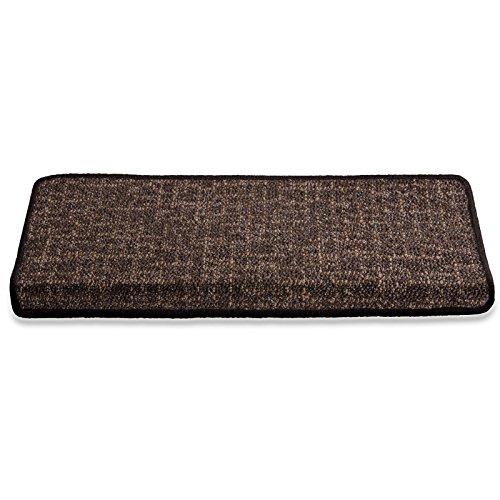 casa pura Stufenmatte | Schoko gekästeltes Muster | Qualitätsprodukt aus Deutschland | GUT Siegel | kombinierbar mit Läufer | 65x23,5 cm | rechteckig | einzelne Matte
