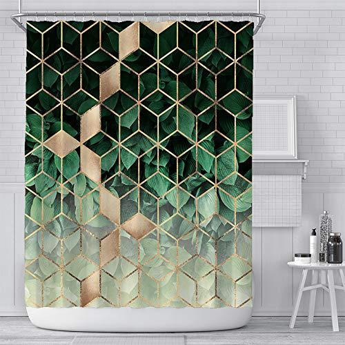 Patterned Geometric Shower Curtain for Bathroom Curtain Fabric Modern Design