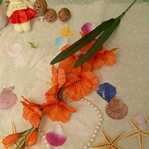 WBXYCG Flor de plástico de gladiolo de Flores Artificiales, orquídea de Espada de Flores Falsas, decoración de Boda…