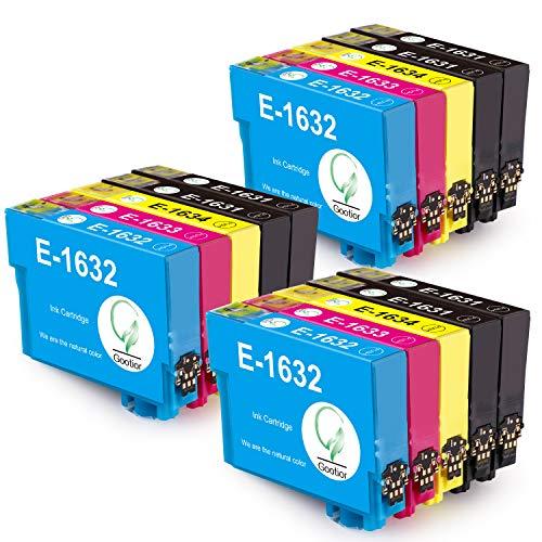 Gootior 16XL Cartuchos de Tinta, Alta Capacidad Compatible para Epson Workforce WF-2630WF WF-2510WF WF-2530WF WF-2650DWF WF-2750DWF WF-2760DWF WF-2010W WF-2540WF WF-2660DWF WF-2520NF, 15 Multipack