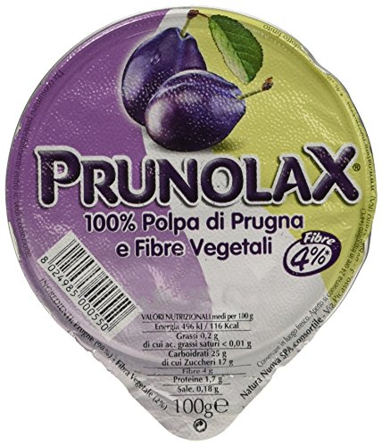 PRUNOLAX Polpa di Prugna e Fibre Vegetali, Confezione da 100g