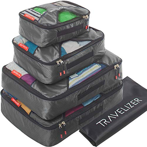 Travelizer - Travel Packing Cubes 5 pcs Luggage Organizer Set for Bag & Suitcase