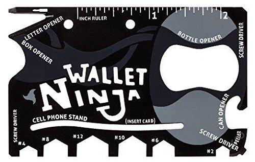 Wallet Ninja, Multifunktionswerkzeug für Brieftasche 18 in 1