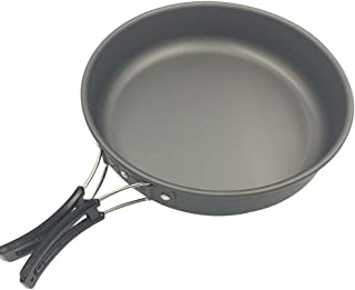 Xiaozxwlhq 9 inch Folding Non-Stick Kitchen Cooking Frying Pan,Picnic Cooking Pots and Pans with Folding Handle for 2-3 People