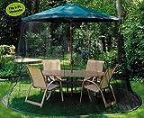 Gartenmückenabdeckung, Moskitonetz mit Einer Tür 300x230CM, Sonnenschirm mit Reißverschlusstür, Polyesternetz Pavillons Sonnenschirme