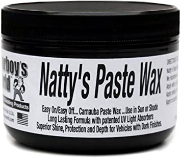 Poorboy's World PB-NPBLK08 Natty's Carnuaba Paste Wax-Black: image