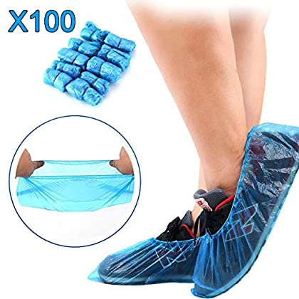 MorNon 100Pcs Cubierta del Zapato Funda Impermeable para Zapatos Cubrezapatos Funda de Plástico para el Hogar la Oficina…