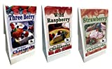 Rabbit Creek Gourmet No Bake Cheesecake Mix Variety Pack of 3 – Strawberry, Three Berry and Wild...