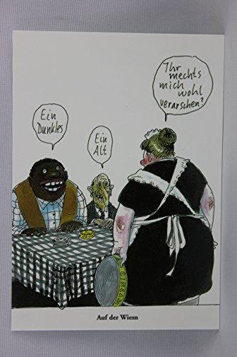 Postkarte A6 • 14726 ''Auf der Wiesn'' von Inkognito • Künstler: Rudi Hurzlmeier • Satire • Cartoons
