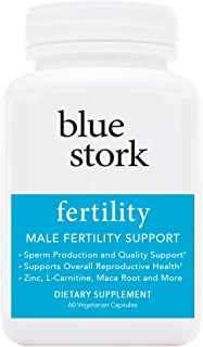 Blue Stork Fertility: Male Fertility Support, for Sperm Production, Reproductive Health, More. -60 Vegetarian Capsules