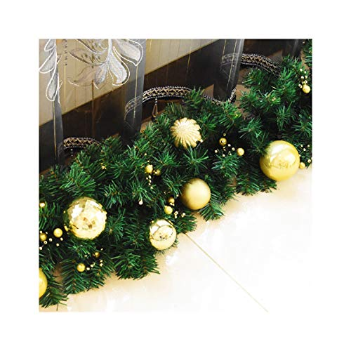 Christmas Pearl Ball Cane Decoration Door Hanger Hotel Shopping Mall Window Pearl Ball Christmas Decoration,Gold with Light