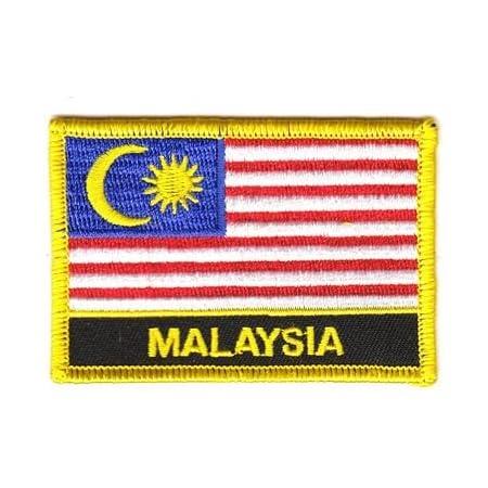 Flaggen Aufnäher Patch Malaysia Fahne Flagge Neu Sport Freizeit
