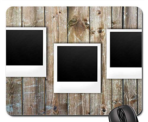 Mouse Pad - Polaroid Boards Notes List Wood Instant