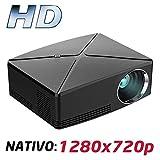 Proyector Full HD 1080P, LUXIMAGEN HD400 (2019 Nuevo), Proyector Maxima luminosidad Portátil LED Cine en casa 1920x1080 HDMI USB VGA para PS4,Xbox,Switch, 720P Nativo