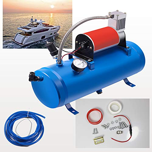 ASMAHAN Air Compressor for Train Horn, Train Horn For Truck, Train Horn Kit, Train Horns Kit For Trucks, Boat Horn, Air Horn, Car Horn, Golf Cart Horn, For Boating Safety, Airhorns Loud