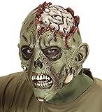 shoperama Máscara terrorífica de látex con cerebro expuesto para Halloween