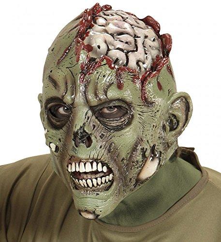 shoperama Mscara terrorfica de ltex con cerebro expuesto para Halloween
