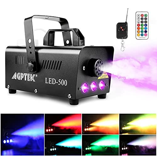 AGPtEK Nebelmaschine mit 13 farbigen LEDs & 500W Erfahrungen & Preisvergleich