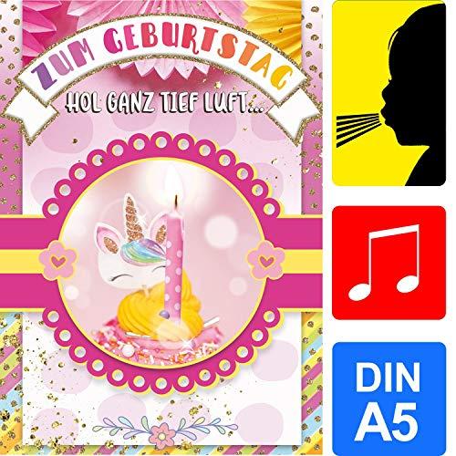 bentino Geburtstagskarte für Mädchen mit leuchtender