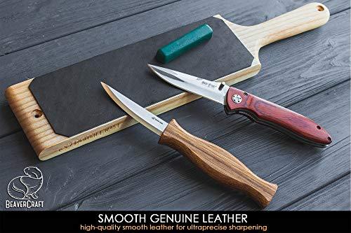 """BeaverCraft LS1P1 Leather Strop 3"""" x 8"""