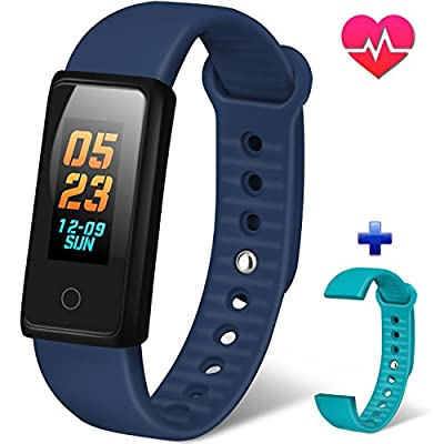 Activity Tracker,Color Screen Fitness Tracker with Heart Rate Monitor and Blood Pressure Sleep Monitor Smart Bracelet,Step Counter Pedometer Watch Waterproof Smart Wristband for Men Women & Kids